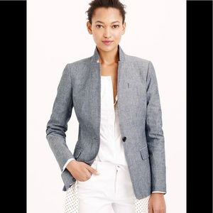 J.Crew Women's Blue Regent Blazer In Chambray
